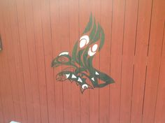 Painting on the shed.  By Nick Platel