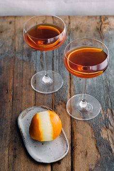 Gastronomista's recipe for the Stolen Negroni (Cynar, Aperol and gin, on Design*Sponge.