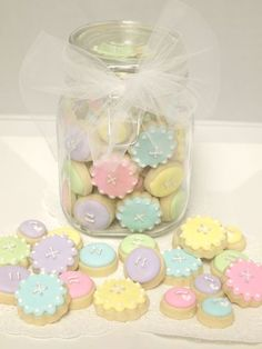 """cute as a button"" baby cookies --- @ Christina J"
