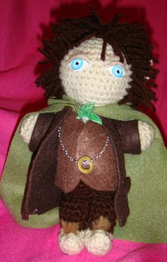 Frodo Baggins Hobbit Lord of the Rings AmigurumiI Crochet doll