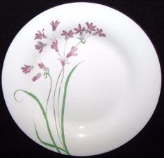 MINT Condition Martha Stewart MTW5 Lot of 4 Salad Plates Purple Flowers Green Leaves 7 3/4 by libertyhallgirl on Etsy