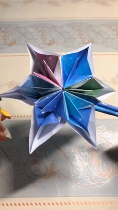Making Origami Paper Crafts Step by Step Video - Diy & Crafts - Origami Ball, Origami And Kirigami, Paper Crafts Origami, Diy Origami, Paper Crafting, Diy Arts And Crafts, Creative Crafts, Crafts To Do, Crafts For Kids