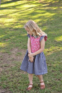 sewing: double gauze and gingham hanami dress || imagine gnats