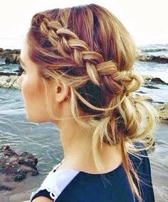 7 Cute Hairstyles for dirty hair Greasy Hair Hairstyles, Cute Hairstyles, Easy Braided Hairstyles, Easy Hairstyles For Thick Hair, Easy Braided Updo, Hairstyle Braid, Easy Summer Hairstyles, Hairstyles Pictures, Corte Y Color