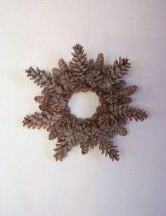Pinecone snowflake Wreath - perfect