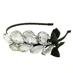 Smile Bowknot Charming Water Drops Hair Crystal Rhinestone Accessories Hair Bands Jewelry For Women Girl sw119 *** Continue to the product at the image link.
