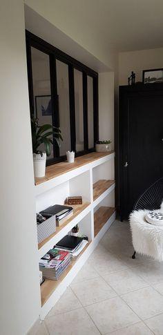 Canopy shelves - Decoration For Home Küchen Design, House Design, Interior Design, Office Decor, Home Office, Attic Bedrooms, Living Room Remodel, Kitchen Interior, Home And Living
