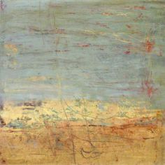 """Martha Rea Baker, """"Traces of Time 3"""", Oil and cold wax"""