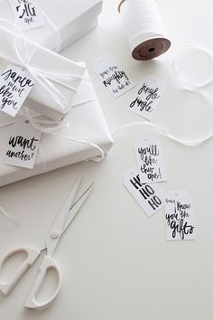 Gorgeous free printable gift tags from Almost Makes Perfect
