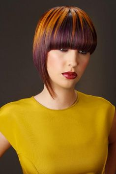 Goldwell's Color Zoom USA Winners Announced Creative Colorist: Michelle Azouz from Tangles in Wichita Falls, TX Creative Hairstyles, Funky Hairstyles, Hairstyles Haircuts, Hair Color Placement, Competition Hair, Vivid Hair Color, Creative Hair Color, Professional Hairstyles, Great Hair