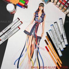 WIP - Illustration by Paul Keng @paulkengofficial for Dylan Cai | Otis Fashion - Mentor: Chris Chang, Shanghai, China.