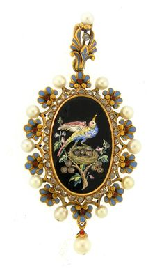 Enamel  Pearl Pendant by Giuliano#Repin By:Pinterest++ for iPad#