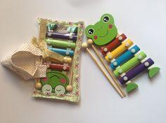 #Metallofono di #legno in borsa di cotonina cucita a mano. 5€ #handmade #music