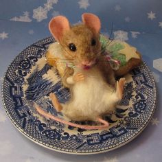 Needle Felted Christmas Tree Cookie Fat Mouse by Artist Robin Joy Andreae | eBay