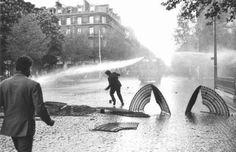 Claude Dityvon, Paris, mai 68, Boulevard Saint Michel, 6 mai, 1968 -