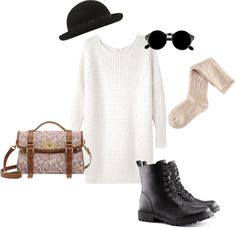 """""""inspired outfit with a floral mulberry bag"""" by hayleycarbran ❤ liked on Polyvore"""
