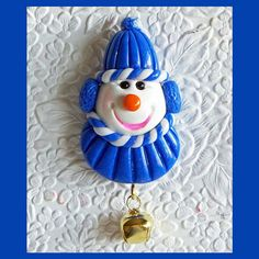 Snowman Magnet Boy Dark Blue by RFColorfulCreations on Etsy