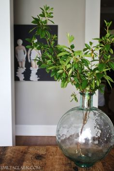 My Top 10 Favorite Home Accessories - Emily A. Clark good idea for LR corner - use large glass vase with silk greenery branches
