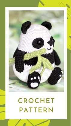 Excited to share this item from my shop: Panda bear crochet pattern , amigurumi Crochet Panda, Crochet Bunny, Crochet Patterns Amigurumi, Crochet Toys, Crochet Animals, Knitting Toys, Crochet Gifts, Crochet Ideas, Crochet Projects