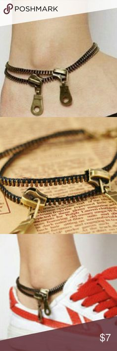 NEW!!!! Vintage zipper anklet! Very cute and unique zipper anklet! Jewelry