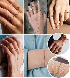 Anéis minimalistas