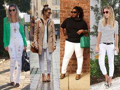 Como usar calça branca para criar looks casuais e elegantes - Dicas de Mulher