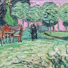 Daubigny's Garden (detail) by Vincent van Gogh