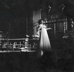 Maria Callas performing in 'Tosca' by Puccini at the Opera de Paris, February 1965