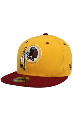 the latest bc34b 02ad8 NFL New Era Washington Redskins Two-Tone 59FIFTY Fitted Hat - Gold Burgundy