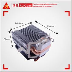 2016 Ruiquan New Design for aluminum hot pipe heatsink fan with red blades. #heatsink   #hotpipe   #aluminum   #fan   #blades   #cpucoolerfan   #heatsinkheatpipe