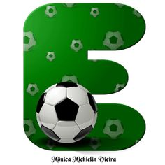 Abecedario Verde con Pelota de Fútbol. Green Alphabet with Soccer Ball. Soccer Party, Football Soccer, Soccer Ball, Rugrats, Candyland, Disney Alphabet, Superhero, Sports, Bob Morley