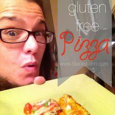 The best gluten free pizza ever! No fork required!! yum http://staceylehn.blogspot.com/2014/02/best-gluten-free-pizza.html
