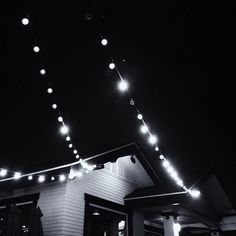 String up lights from roof over patio or deck for a festive look.