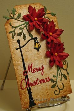 Creative Moments With Sandy: Poinsettia Holiday Tag