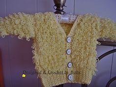 "Ravelry: Crochet Loopy Cardigan ""Buttercup"" pattern by Crocknits"