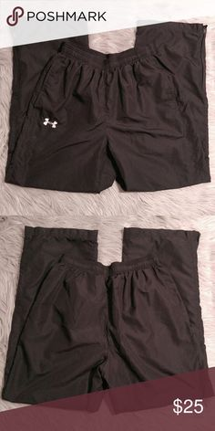 """Under Armour Running Pants Under Armour Running Pants Mesh Lined and very warm Size M Ankle zip 9"""" length 15"""" waist 29"""" Inseam EUC Under Armour Pants Track Pants & Joggers"""