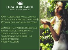 All-Natural Organic & Vegan ingredients.  2 Hair Masks to choose from. Shop now!!! Hair Masque, Mini Vacation, Vitamin E Oil, Tahiti, Aloe Vera, Your Hair, Juice, How To Become