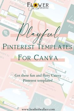 Get these fun and flirty Canva Pinterest templates. Perfect for bloggers and entrepreneurs of all niches, and will save you time and help you rock your Pinterest marketing in 2020. #canvapinteresttemplates #canvatemplates #pinterestpindesigns #pinteresttemplatesforbloggers #pinterestmarketing Social Media Tips, Social Media Marketing, Pinterest Images, Media Kit, Feeling Overwhelmed, Pinterest Marketing, Small Businesses, Daisy, Branding