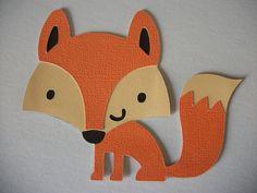 Traced Onto Parchment As Template For My Fox Cake  Paper Craft cakepins.com