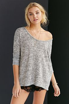 Mouchette Scooped-Out Dolman Top - Urban Outfitters