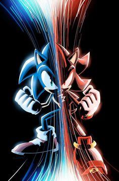 I like to think that Sonic and Shadow were brothers. Hedgehog Art, Shadow The Hedgehog, Sonic The Hedgehog, Hedgehog Drawing, Hedgehog Movie, Up The Movie, Sonic The Movie, Sonic Dash, Sonic And Amy