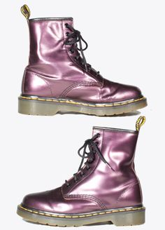 VTG 90's Purple Patent Leather Doc Martens Boots by RaraeAves, $98.00