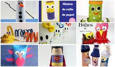 12 manualidades con tubos de cartón , reciclaje creativo
