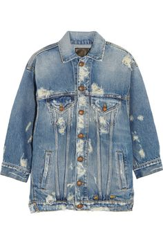 R13 Oversized distressed denim jacket. #r13 #cloth #夹克