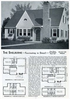 1953 Aladdin Homes: The Shelburne...our house except backwards