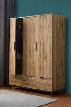 Buy Bronx Triple Wardrobe from the Next UK online shop Wide Chest Of Drawers, Triple Wardrobe, Corner Wardrobe, Wardrobe Doors, Indian Home Decor, Modern Decor, Interior And Exterior, Tall Cabinet Storage, Interior Decorating