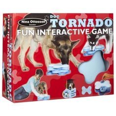 The Company of Animals Interactive Tornado Game by Nina Ottosson is for the dog to dislodge the removable bones, and then turn the revolving sections to reveal hidden treats.    The Tornado has many variables to increase the level of difficulty as the dog's skill improves.    With a little practice, he will soon learn to dislodge the bones and turn the Tornado to access the rewards.