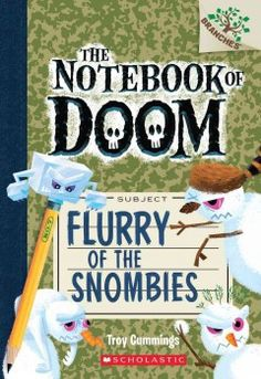 J SERIES NOTEBOOK OF DOOM. It is a very hot summer in Stermont, and Alexander and his friends are at Camp Gloamy in the mountains, but even here there are monsters--specifically zombie snowmen called snombies who want to freeze the young monster-hunters.