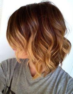 Carré plongeant ombré hair - Les 30 plus jolis carrés plongeants sur Pinterest - Elle