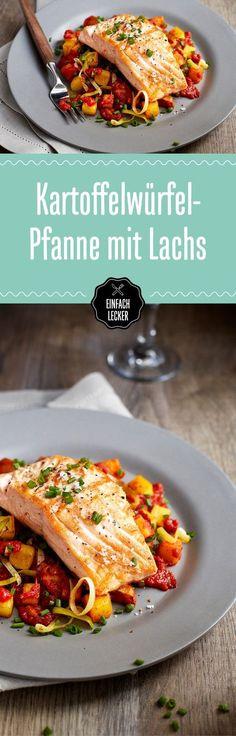 Lust auf Lachs? Dann nichts wie ran an dieses Rezept mit Kartoffel-Pastinake-Petersilienwurzel-Lauchgemüse.